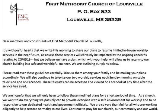 Welcome to First Methodist Church of Louisville